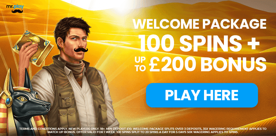 mrplay casino welcome bonus
