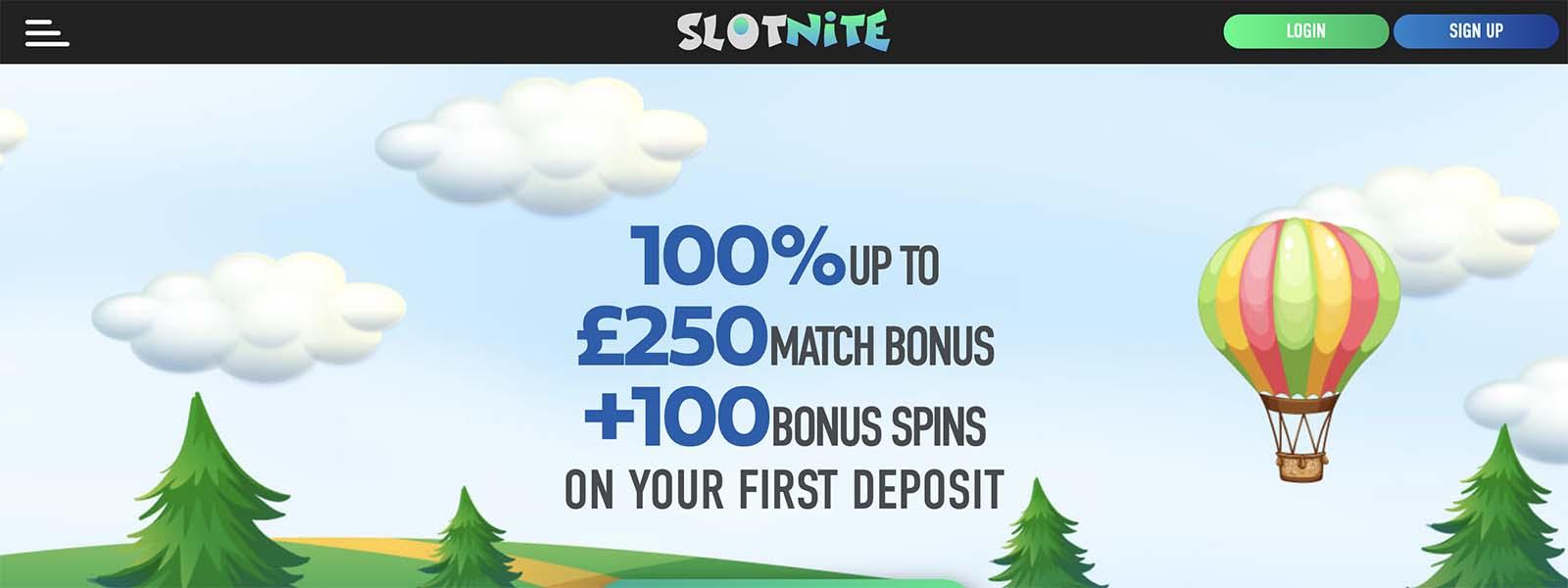 slotnite casino welcome bonus